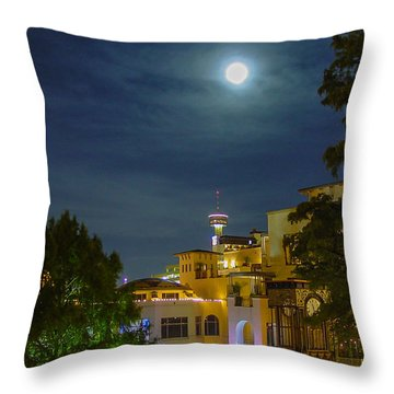 San Antonio Cityscape Throw Pillow