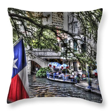 San Antonio Flag Throw Pillow