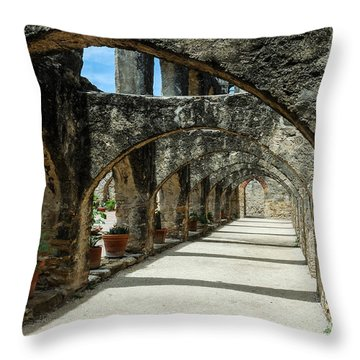 San Antonio Mission Arches Throw Pillow