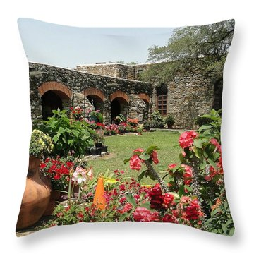 San Antonio Mission Throw Pillow