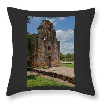 San Antonio Mission Throw Pillow
