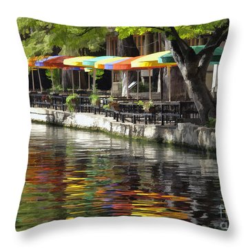 San Antonio River Walk Throw Pillow