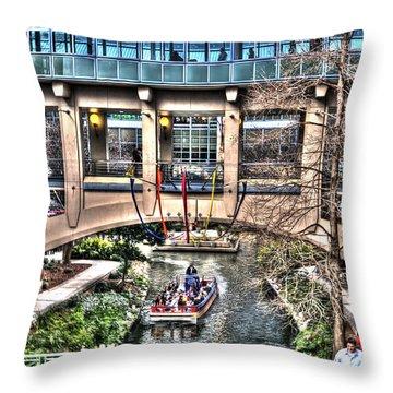 Throw Pillow featuring the photograph San Antonio Riverwalk by Deborah Klubertanz