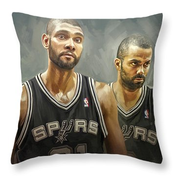 San Antonio Spurs Artwork Throw Pillow