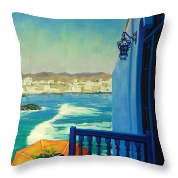 San Bartolo Bay Throw Pillow