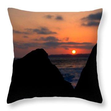 Throw Pillow featuring the photograph San Clemente Rocks Sunset by Matt Harang