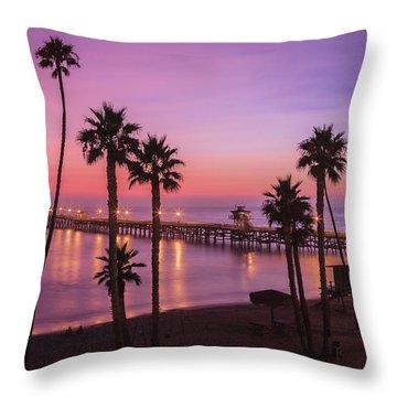 San Clemente Sunset Meditation Throw Pillow