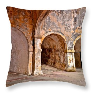 San Cristobal Fort Tunnels Throw Pillow