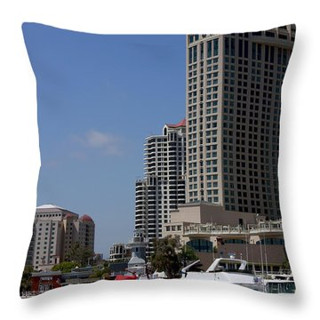 Throw Pillow featuring the photograph San Diego Bay by Ivete Basso Photography