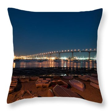 Throw Pillow featuring the photograph San Diego Bridge  by Gandz Photography
