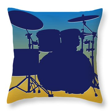 San Diego Chargers Drum Set Throw Pillow by Joe Hamilton
