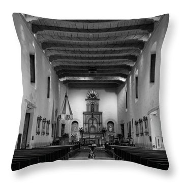 Sanctuary - San Diego De Alcala Throw Pillow