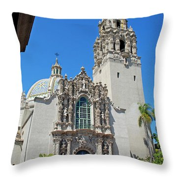 San Diego Museum Of Man Throw Pillow by Claudia Ellis