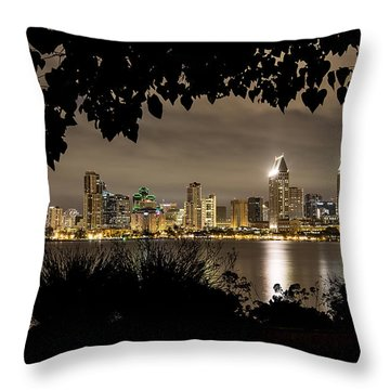 San Diego Skyline Framed 2 Throw Pillow
