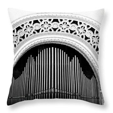San Diego Spreckels Organ Throw Pillow by Christine Till