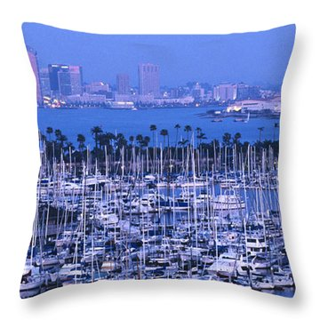San Diego Twilight Throw Pillow