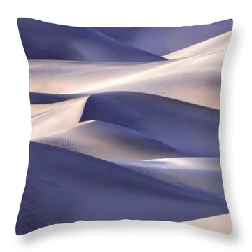 San Dunes Abstract Throw Pillow
