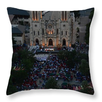 San Fernando Cathedral 001 Throw Pillow