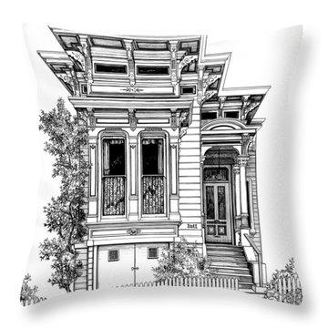 San Fracisco Victorian2 Throw Pillow