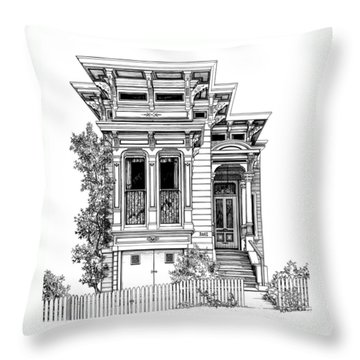 San Fracisco Victorian2 Throw Pillow