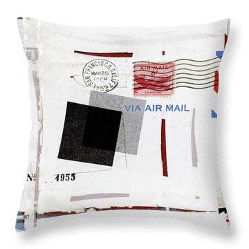 San Francisco 1952 Air Mail Square Throw Pillow