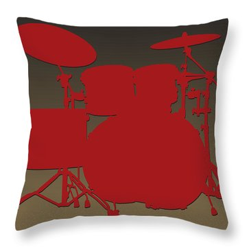 San Francisco 49ers Drum Set Throw Pillow by Joe Hamilton
