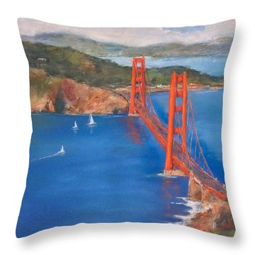 San Francisco Bay Bridge Throw Pillow