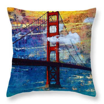 San Francisco Bridge Throw Pillow