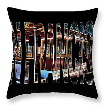 San Francisco Cable Car Art Throw Pillow by Marvin Blaine