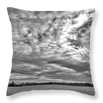 San Francisco Clouds Throw Pillow