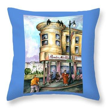 San Francisco North Beach - Watercolor Art Painting Throw Pillow