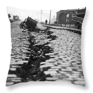 San Francisco Earthquake Split Throw Pillow