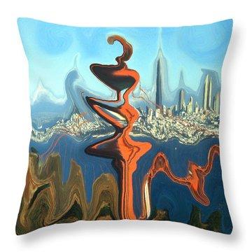 San Francisco Earthquake - Modern Art Throw Pillow by Art America Gallery Peter Potter