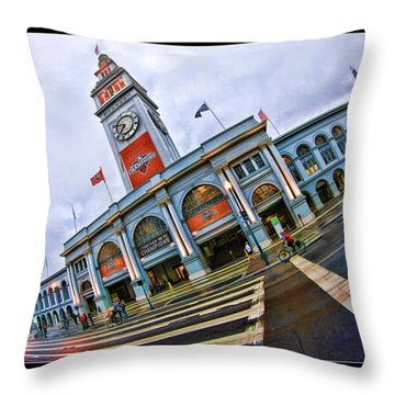 San Francisco Ferry Building Giants Decorations. Throw Pillow