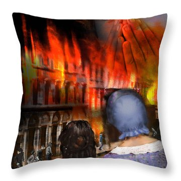 San Francisco Fire Throw Pillow