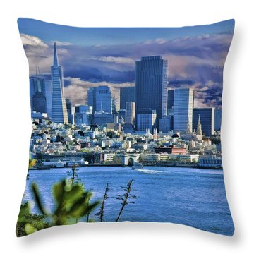 San Francisco From Alcatraz Throw Pillow