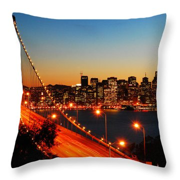 The City By The Bay Throw Pillow by James Kirkikis