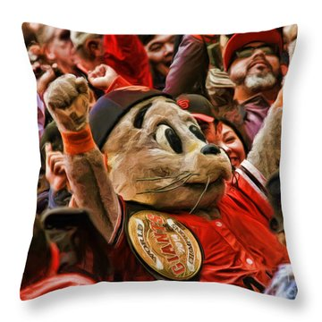 San Francisco Giants Mascot Lou Seal Throw Pillow