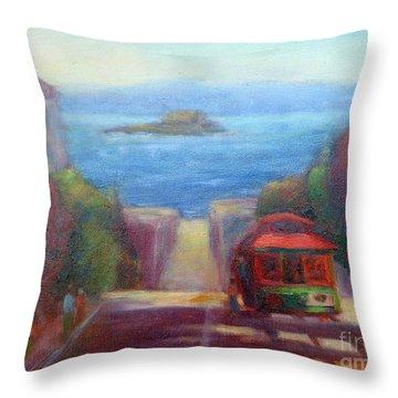 San Francisco Hills Throw Pillow