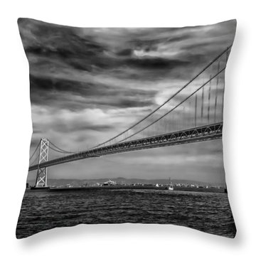 San Francisco - Oakland Bay Bridge Throw Pillow