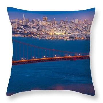 San Francisco Panorama Throw Pillow by Inge Johnsson
