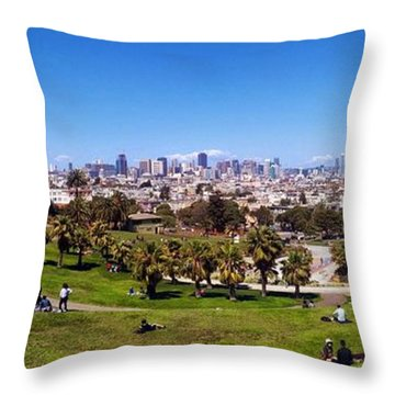 San Francisco Panoramic Throw Pillow