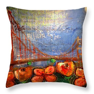 San Francisco Poppies For Lls Throw Pillow