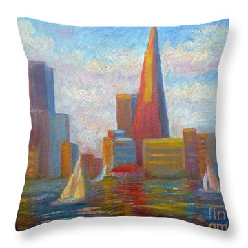 San Francisco Reflections Throw Pillow