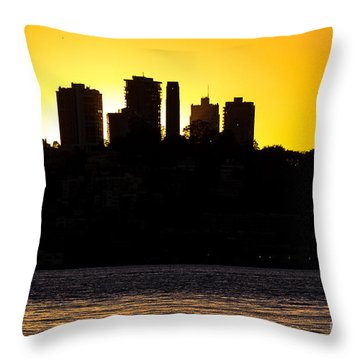 San Francisco Silhouette Throw Pillow