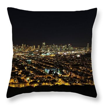 Throw Pillow featuring the photograph San Francisco Skyline by Dave Files
