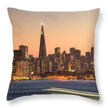 San Francisco Skyline Late Evening Throw Pillow