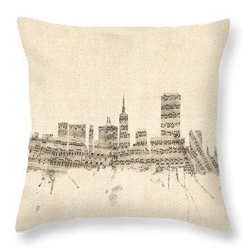 San Francisco Skyline Sheet Music Cityscape Throw Pillow