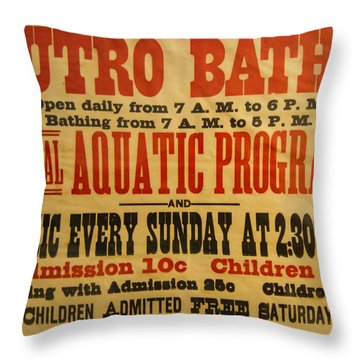 San Francisco Sutro Baths Throw Pillow by Roger Mullenhour