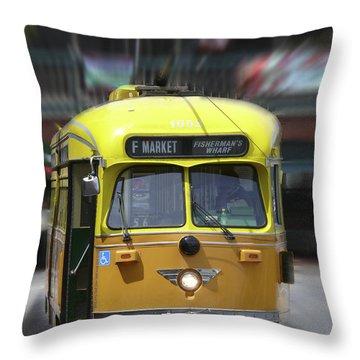 San Francisco Trolley Car Throw Pillow